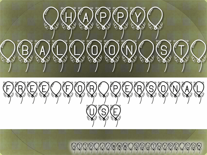 Happy Balloon St PERSONAL USE font by Southype