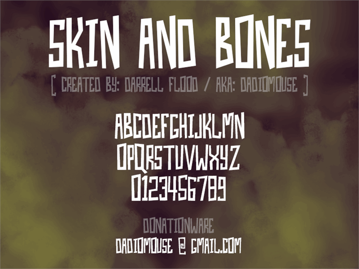 Skin And Bones font by Darrell Flood