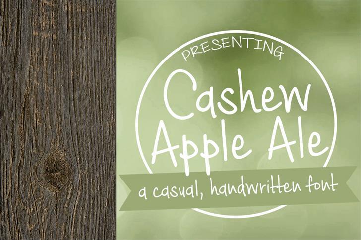 Cashew Apple Ale font by Brittney Murphy Design