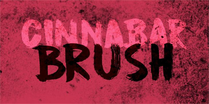 DK Cinnabar Brush font by David Kerkhoff