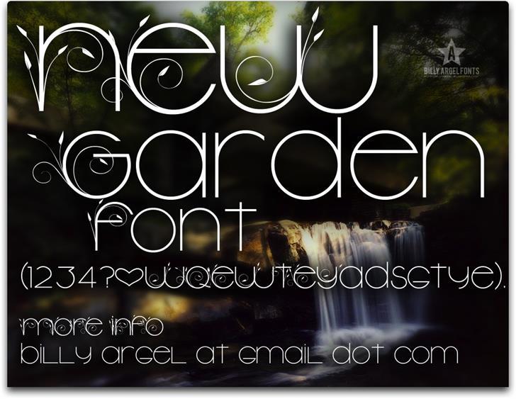 New Garden font by Billy Argel