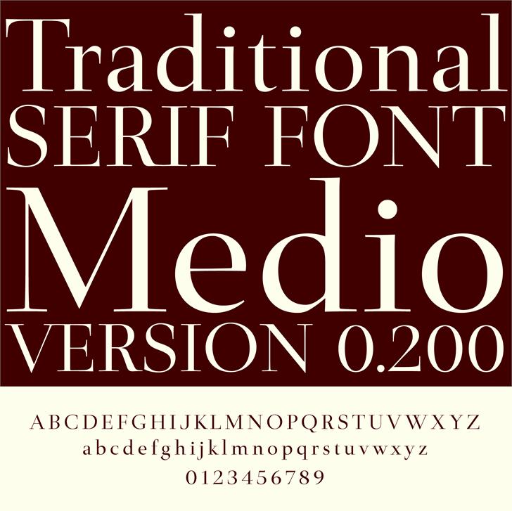 Medio font by arro
