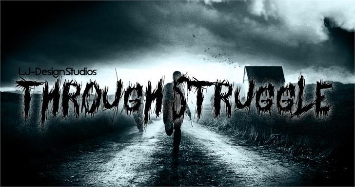 Through Struggle font by LJ Design Studios