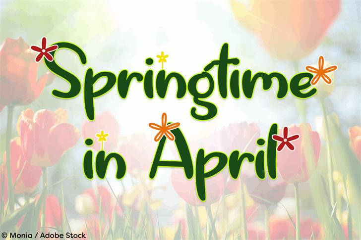 Springtime in April font by Misti's Fonts