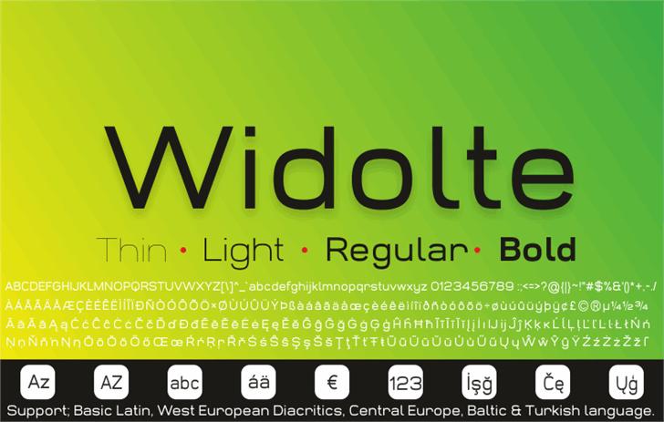 Widolte Bold Demo font by studiotypo