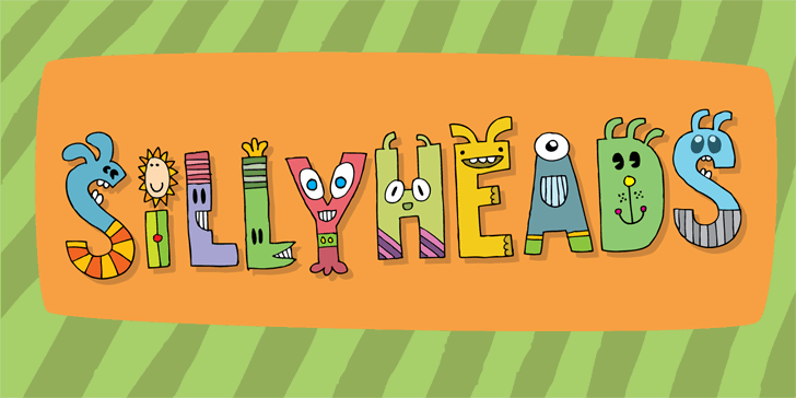 Sillyheads DEMO font by pizzadude.dk