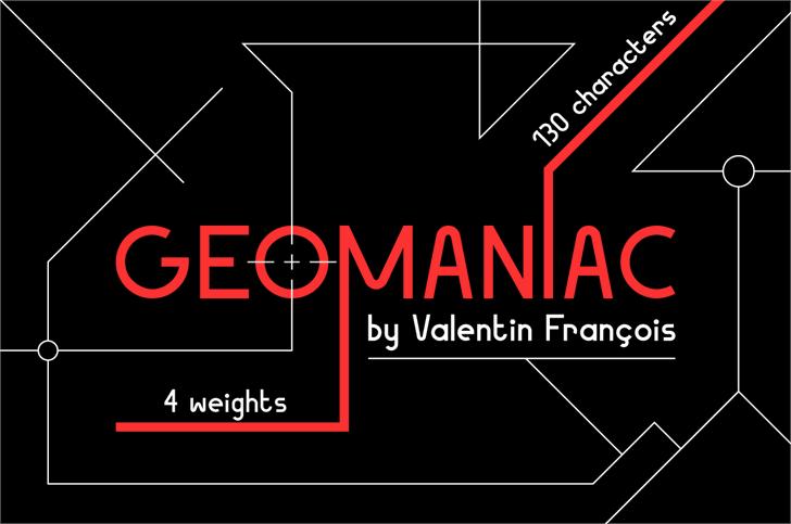 Geomaniac font by Valentin François