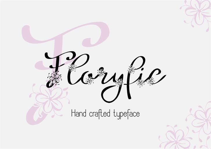 Floryfic font by Eva Barabasne Olasz