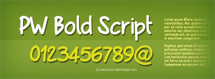PWBoldScript font by Peax Webdesign
