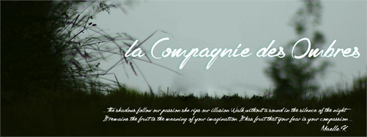 la Compagnie des Ombres font by Maellekeita