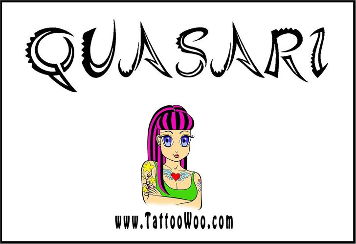 Quasari font by Jonathan S. Harris