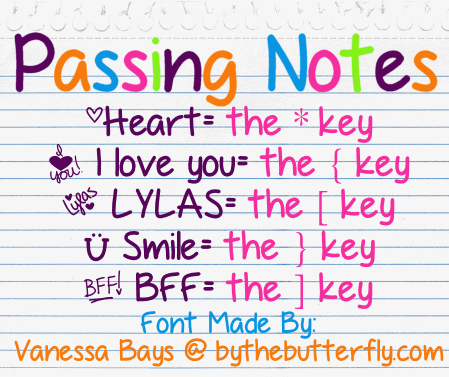 PassingNotes font by ByTheButterfly