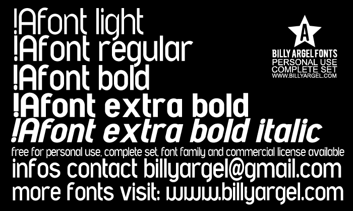 A font LIGHT PERSONAL USE font by Billy Argel