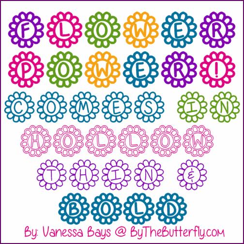 Flower Power font by ByTheButterfly