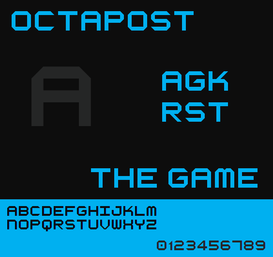 Octapost NBP font by total FontGeek DTF, Ltd.