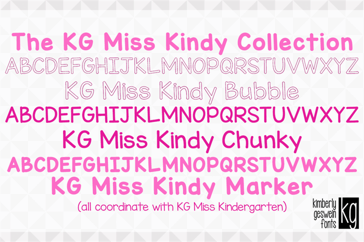 KG Miss Kindy Bubble font by Kimberly Geswein