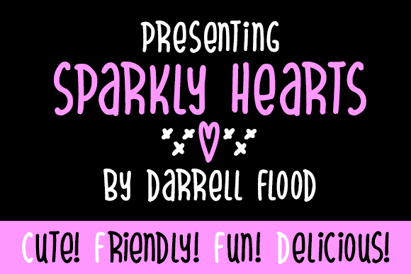 Sparkly Hearts font by Darrell Flood