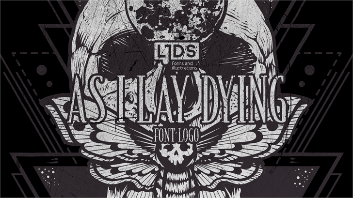 As I Lay Dying Logo Font by LJ Design Studios