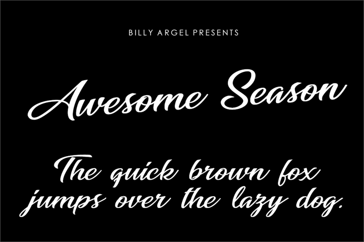 Awesome Season Personal Use font by Billy Argel