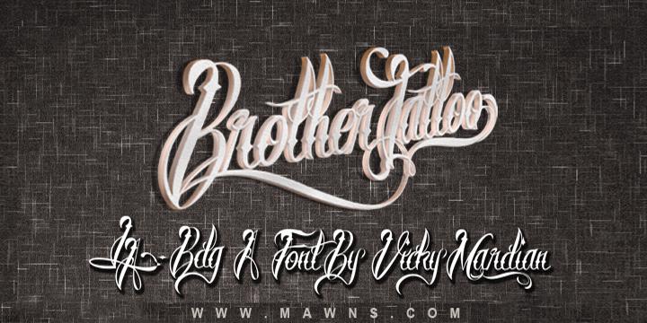 Brother Tattoo font by Måns Grebäck