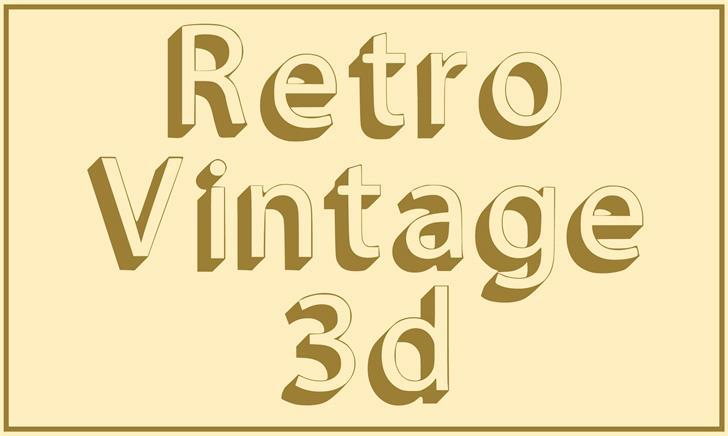 Retro Vintage 3d font by Hardik