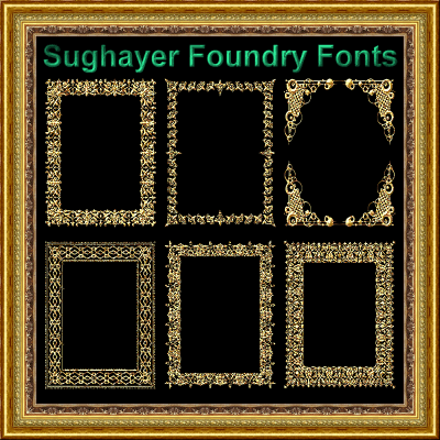 Vintage Frames_22 font by Sughayer Foundry