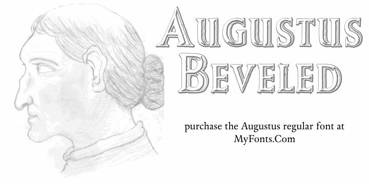Augustus Beveled font by Intellecta Design