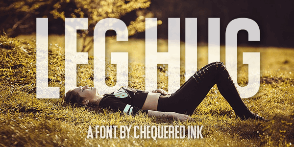 Leg Hug font by Chequered Ink