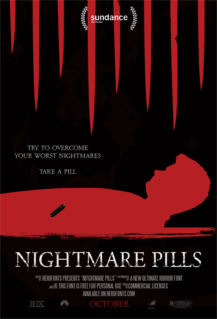NIGHTMARE PILLS font by Herofonts