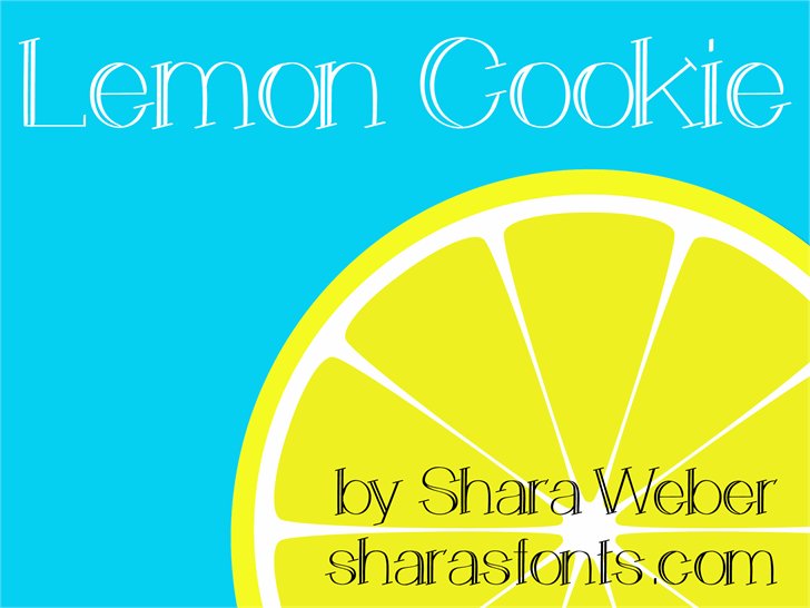LemonCookie font by Shara Weber