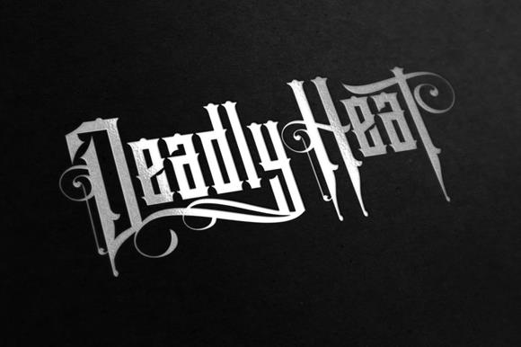 Deadly Heat font by VMF font