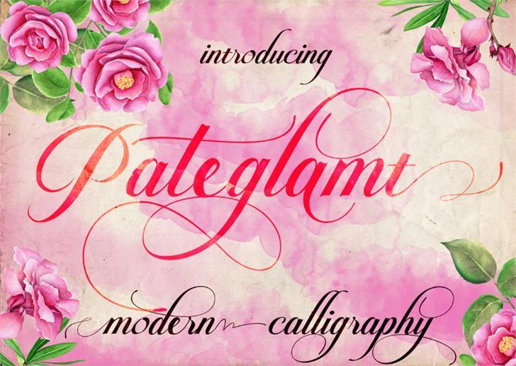 Pateglamt Script demo version font by iTypeface