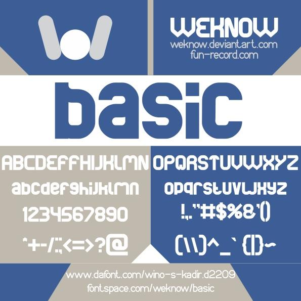 basic font by weknow
