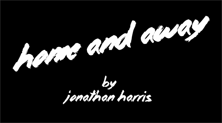 Home and Away font by Jonathan S. Harris