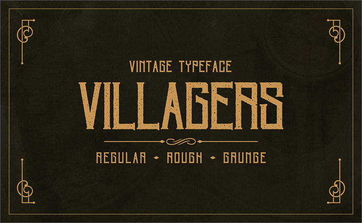 Villagers font by stslifestyle