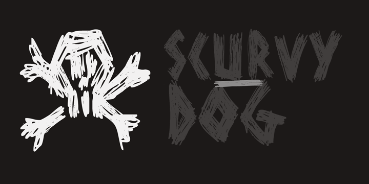 DK Scurvy Dog font by David Kerkhoff