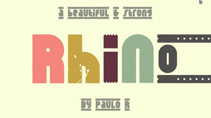 Rhino Luz font by Paulo R