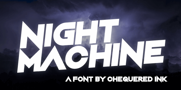 Night Machine font by Chequered Ink