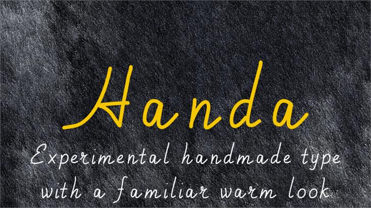 Handa font by Kreativ Font