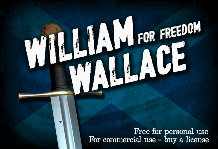 CF William Wallace font by CloutierFontes