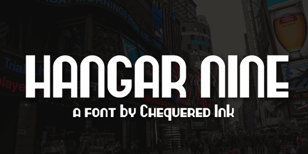 Hangar Nine font by Chequered Ink