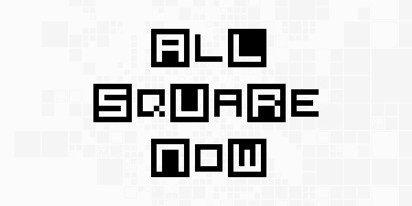 All Square Now font by Chequered Ink