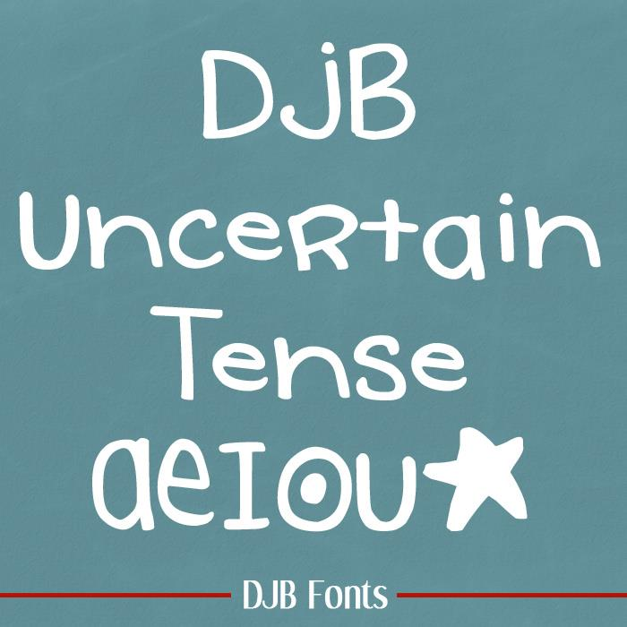 DJB Uncertain Tense font by Darcy Baldwin Fonts