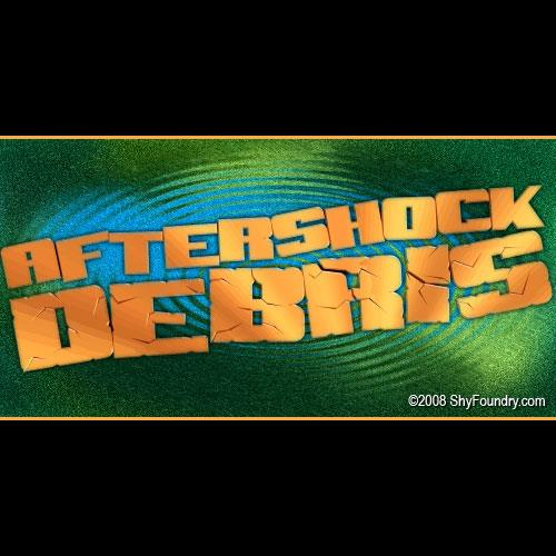 SF Aftershock Debris font by ShyFoundry