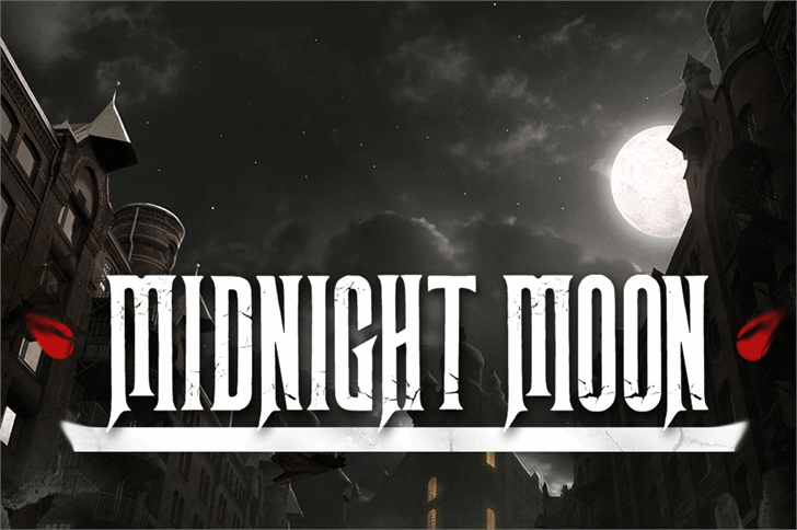 Midnight Moon font by Herofonts