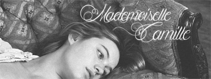 Mademoiselle Camille font by Maellekeita