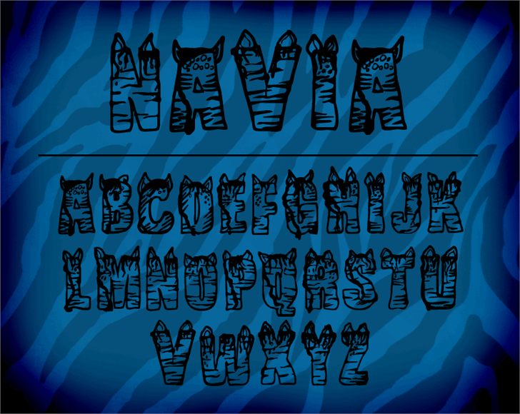 CF NaVia font by CloutierFontes