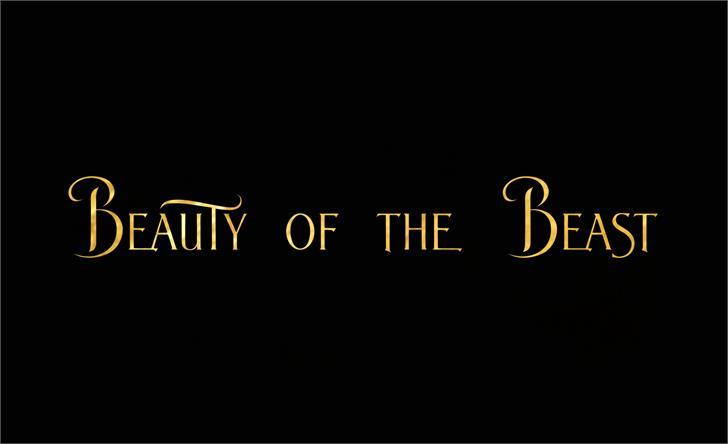 BeautyoftheBeast font by JoannaVu