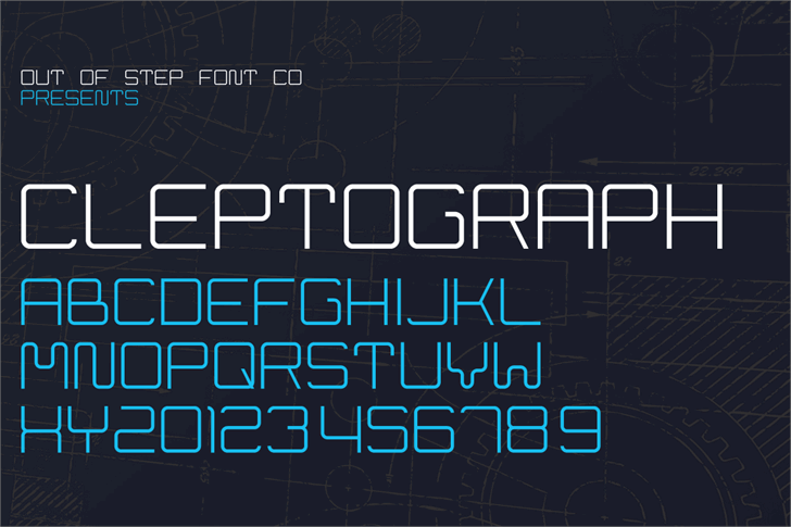 Cleptograph font by Out Of Step Font Company