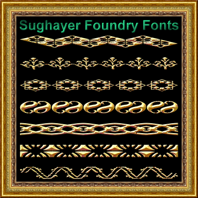 Vintage Borders_08 font by Sughayer Foundry